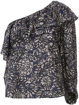 Apiece Apart one shoulder printed blouse - women - Silk/Cotton - 6