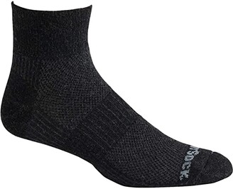 Wrightsock Eco LT Hike Quarter (Black) Crew Cut Socks Shoes
