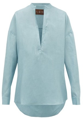ALBUS LUMEN Alois Oversized Linen Shirt - Light Blue