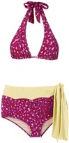 Adriana Degreas Pomegranate hot pants bikini set