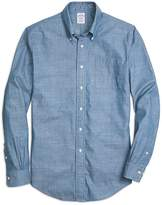 Brooks Brothers Regent Fit Chambray Anchor Sport Shirt