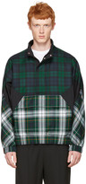 Alexander Wang Green Panelled Check Jacket