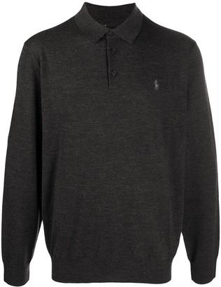 Polo Ralph Lauren Knitted Long-Sleeved Polo Shirt
