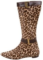 Manolo Blahnik Ponyhair Knee-High Boots