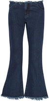 Marques Almeida Marques' Almeida Cropped frayed low-rise flared jeans