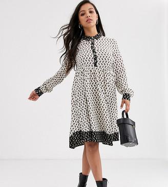 Vila Petite midi dress in paisley print-Multi