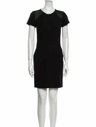 Diane von Furstenberg Crew Neck Mini Dress Black