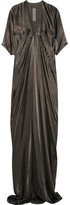 Rick Owens Kite Satin Gown - Dark gray
