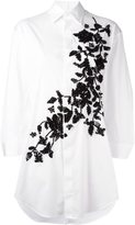 DSQUARED2 oversize floral embroidered shirt