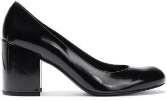 Stuart Weitzman Glossed-leather Pumps