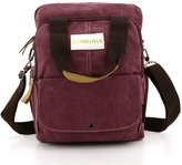 liangdongshop Casual Style 3 Way Multi-purpose Canvas Shoulder Bag Top Handle Bag Backpack