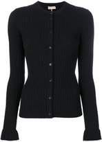Emilio Pucci contrast detail ribbed cardigan - women - Polyester/Viscose - XS
