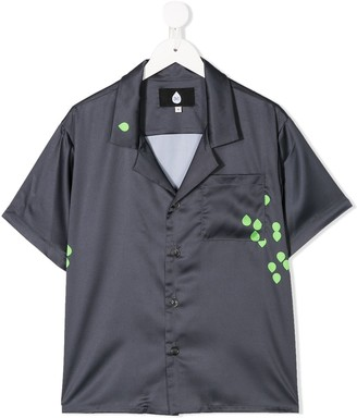 Natasha Zinko Kids Teardrop Print Short-Sleeve Shirt
