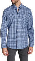 Tailorbyrd Navy Checkered Woven Shirt