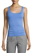 Michael Kors Cashmere Scoop-Neck Shell Tank, Blue
