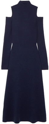 Gabriela Hearst Silveira Cold-shoulder Wool-blend Midi Dress