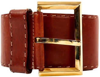 Gianfranco Ferre Brown Leather Belts