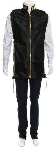 Giuseppe Zanotti Ponyhair & Leather Vest