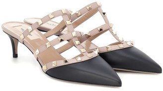Valentino Rockstud leather mules