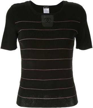 Chanel Pre Owned Knitted Striped Top