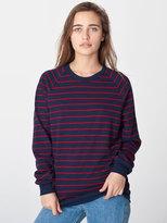 American Apparel Unisex Stripe Fleece Raglan Pullover