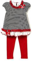 Bonnie Jean Little Girls 2T-6X Dotted Top & Pants Set