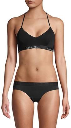 Calvin Klein Motive Stretch-Cotton Bralette