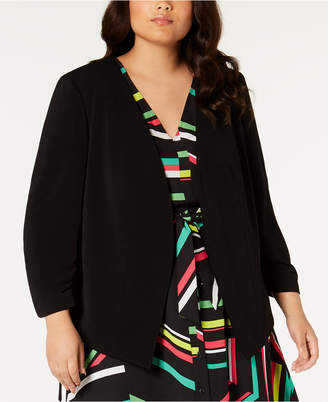 Bar III Trendy Plus Size Open-Front Jacket
