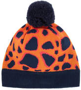 Paul Smith Leopard hat with a bobble
