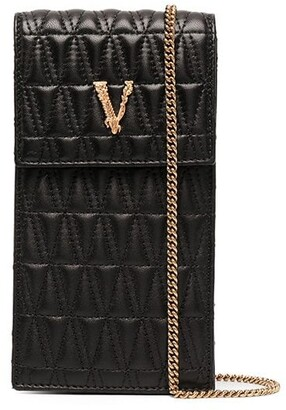 Versace Virtus quilted phone pouch