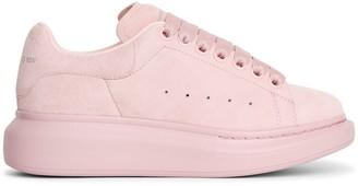 Alexander McQueen Classic rosebud suede sneakers