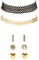 Charlotte Russe Choker Necklaces & Earrings Set
