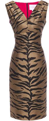 Carolina Herrera Tiger-jacquard Dress