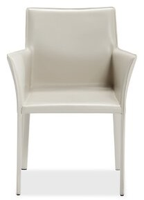 """Interlude Jada 24"""" W Faux Leather Armchair Fabric: Sand Faux Leather"""