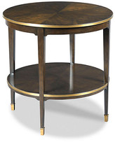 One Kings Lane Emery Round Side Table - Mink - frame, mink; hardware, brass