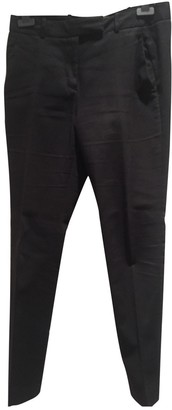 Whistles Black Cotton Trousers for Women