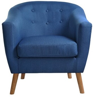 Arnoldsville Barrel Chair Wrought Studio Fabric: Blue