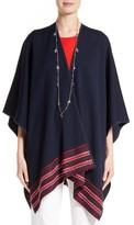 St. John Women's Stripe Trim Milano Knit Wrap