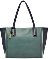 Fossil Emma Colorblock Leather Tote