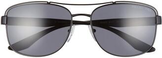 Prada 61mm Polarized Navigator Sunglasses