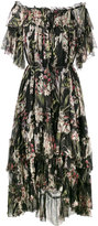 Zimmermann cold-shoulder floral print dress - women - Silk/Polyester - 0