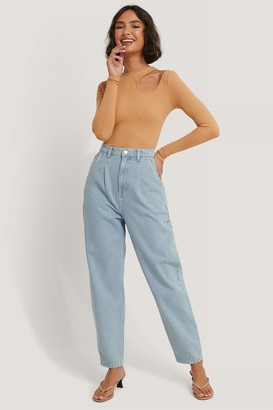 NA-KD Recycled Cropped Balloon Leg Jeans