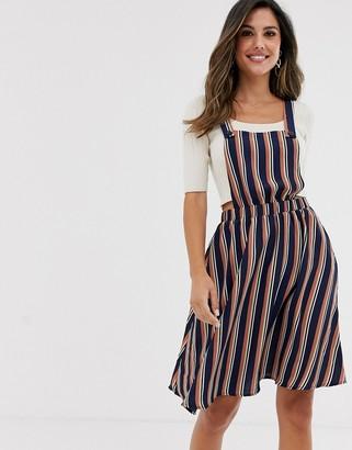 Vila stripe pinafore dress-Multi