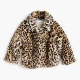 J.Crew Girls' leopard-fur coat