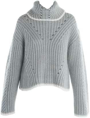 Fendi Rib-Knit Cashmere & Silk Turtleneck Sweater