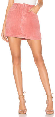 GRLFRND Zamira A-Frame Gusset Corduroy Skirt