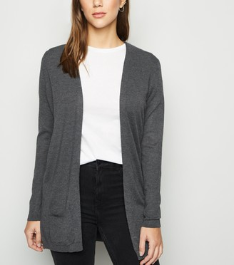 New Look Double Pocket Fine Knit Cardigan
