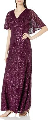Cachet Women's Sequin Capelet Gown