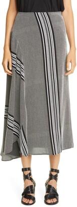 Zero Maria Cornejo Stripe Circle Midi Skirt