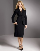 Exclusive Plus Sizes Stretch Ponte Notched Collar Blazer and Seamed Skirt